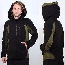 Mens designer hoodie psy trance festival Doof Goa tribal jacket black green