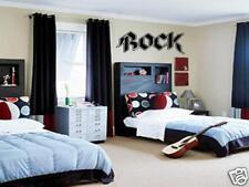 ROCK Wall Art Decal Vinyl Boys Kids Garage Band Room