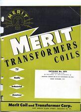 Merit Transformers Coils * Radio * TV * Industrial * Amateur * CDROM * PDF