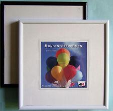 Bilderrahmen Kunststoff Rahmen Echtglas 20x20 30x30 40x40 50x50 versch. Farben