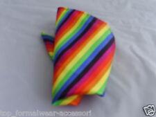 "Rainbow-Multi-color Pocket Hankie-9""x9""=23cm x 23cm-More Squares UBuy>More USave"