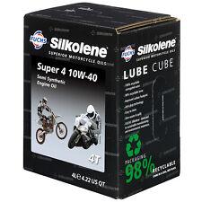 Silkolene Super 4 10W-40 semi-synthetic 4-Stroke Motorbike Oil - 4 Litre Cube