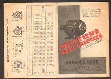 """LYON (69) USINE de MOTEURS ELECTRIQUES """"JULIEN & MEGE"""""""