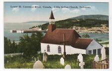 Little Indian Church Tadousac Quebec Canada 1910c postcard