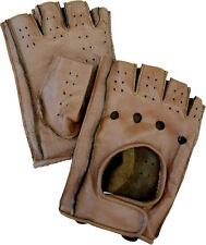 Guanti  Da Guida autista in pelle senza dita moto auto vintage amas am4396
