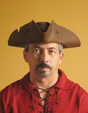 Medieval Celtic Renaissance SCA Larp Tricorn Triangle Old Pirate Hat
