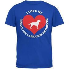 Valentines I Love My Chocolate Lab Royal Adult T-Shirt