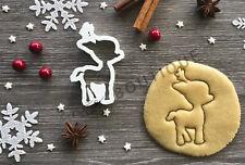 Deer Crown Cookie Cutter 01 | Christmas |  Fondant Cake Decorating | UK Seller