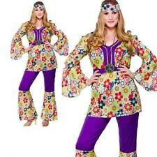 Donna Anni '60 Anni 70 Rétro Moda a Zampa Hippie Hippy Costume UK 6-2
