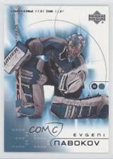 2001-02 Upper Deck Challenge for the Cup #72 Evgeni Nabokov San Jose Sharks Card