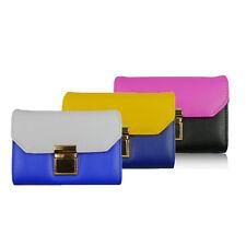 Ladies Faux Leather Contrast Clasp Purse Short Wallet Coin Card Holder KLS026