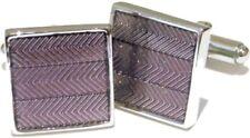 New Purple Enamel Square Mens Gift Wedding Cufflinks   by CUFFLINKS.DIRECT