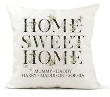 Personalised Cushion,Home Sweet Home, Family Names,New Home Gift Keepsake