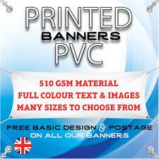 PVC VINYL BANNERS - FREE BASIC DESIGN - PRINTED OUTDOOR ADVERTISING SIGN DISPLAY
