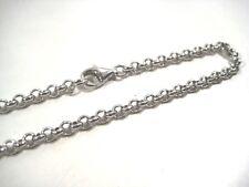Collane da 40a120 cm.catena puro argento 925,rolò 4 mm,grosso.TOP qualità/prezzo