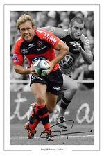 Jonny Wilkinson Toulon Rugby Foto Firmada impresión Cartel