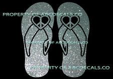VRS Sandals Beach Shoe Peace Heart Love CAR DECAL METAL STICKER