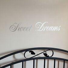 Mirror Silver Sweet Dreams Wall Art Sticker