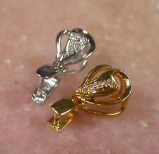 install for jade Or jadeite 390098 18K solid gold (750) Clasp Diamond Diamonds