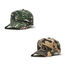 Camouflage Cotton Twill Adjustable Snapback Baseball Cap