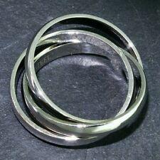 Edelstahl Ringe 3 er Ring dreier Ring Silber matt glanz Damen viele Größe neuer