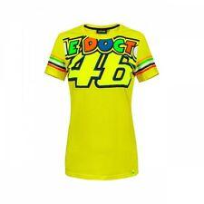 VR46 Offiziell Valentino Rossi 2018 gelber Streifen Damen T-Shirt - vrwts 307001