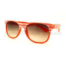 Stripe Design 80's Vintage Square Horn Rim Sunglasses