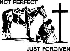 Christian Cowboy Praying Horse Cross Car Truck Window Laptop Vinyl Decal Sticker