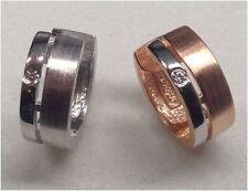 Silber Ohrringe mit zirkonia Steinen Ohrringe 925er Silber Creolen Ohrschmuck