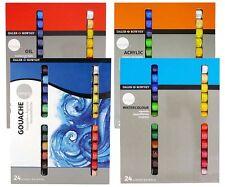 Daler rowney simplement ensembles de peinture 24 x Neuropson-watercolour-gouache-oil-acrylic ensembles