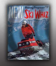 VINTAGE MASSEY FERGUSON 1969 SKI WHIZ SNOWMOBILE BANNER