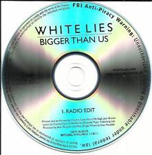 WHITE LIES Bigger Than Us w/ RARE RADIO EDIT TST PRESS PROMO RADIO DJ CD single