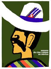 Semana de cine mexicano Vintage POSTER.Graphic Design.wall Art Decoration.3538