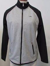 NWT Lauren Ralph Lauren Sweater Full-Zip Black/Gray Heather Sizes M L XXL