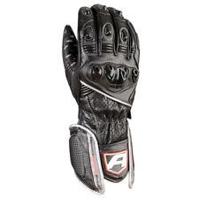 Akito Sports Rider Leather Motorbike Motorcycle Gloves Black/Silver XS-XXL