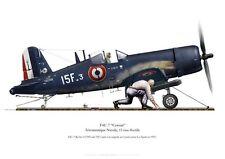 Print F4U-7 Corsair, Flottille 15F, PA La Fayette, 1955 (par P. Mehard)
