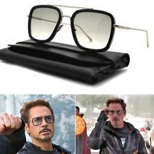 2020 Tony Stark Sunglasses Men Metal Avengers Iron Man Shades Sun Glasses UV400