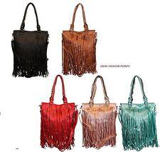 New Tassel Faux Leather Classic Designer Boutique Fringe  Ladies Shoulder Bags
