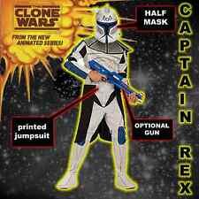 STAR Wars Clone Wars Trooper Capitano Rex dimensioni 3-7yrs