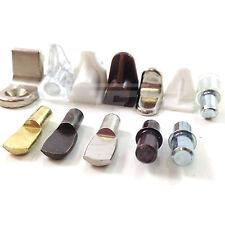 SHELF SUPPORTS - FOR 5mm HOLE - PLASTIC / GLASS / NICKEL / BRASS / BRONZE DOWEL