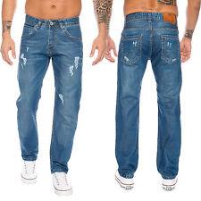 Rock Creek Pantalones Vaqueros Hombre Used Look Corte Recto ll-318 NUEVO