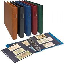 B-Ware. LINDNER Banknotenalbum 1124 in BRAUN mit Blätter für 3 Banknoten