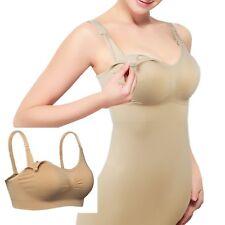 Women's Maternity Clothing Breast Feeding Bra Elastic Cami Tank Top Nude  ❤Aus❤