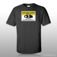 Warning CCTV Closed Circuit Television T-Shirt Tee Shirt Free Sticker security