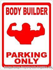 Body Builder Parking Only Sign. Size Options. Gift Bodybuilder Bodybuilders
