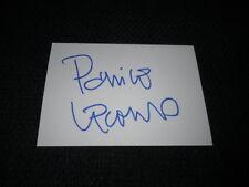 Patrice leconte signed autógrafo en 10x15 cm tarjeta de índice inperson Look