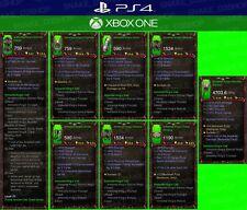 Diablo 3 - PS4 - Xbox Eins - Paket - 4x Primal Unmodded Sets für Barbar - Neu