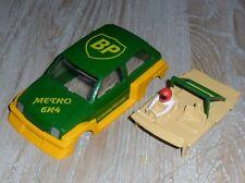 SCALEXTRIC MG TURBO Metro 6r4 COCHE CARCASA, pantalla, motor ,base, REPUESTOS