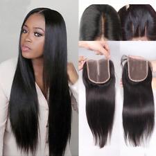 Brazilian Lace Closure Virgin Human Hair Weave Extensions Bundles Bleached Knots