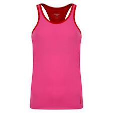 New Reebok Vest Long Bra Top T-Shirt - Pink - Ladies Womens Gym Training Fitness
